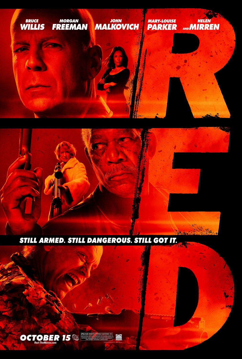 Title: R.E.D. (2010) Synopsis: When a Black Ops agent retires, a team of assassins try to take him out of the picture. While he's on the run, he tries to piece together who called the hit out on him before they shut him up permanently. Why you should like it: Because Bruce Willis, John Malkovich and Morgan Freeman are all in an action movie together. Why else? Availability: DVD, Blu-Ray, Digital Download.