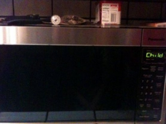 "collegehumor:  Microwave Has ""Child"" Setting Accidentally left the little tyke out in the cold last night, so here's hoping he defrosts evenly."