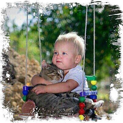Ouhh..so sweetUnbelievabel cute :* #kids #colours #cat (from @MiniaGomez on Streamzoo)