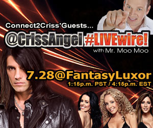 Shaq, FantasyLuxor, Nathan Burton, Stu Stone, Matteo Amieva and more join Criss Angel live for this week's LOYAL'Saturday!   Tune in at 3 PM ET / 12 Noon PT http://stickam.com/crissangel