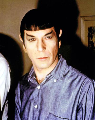 "arcaneimages:  Leonard Nimoy's completed ""Spock"" makeup continuity photo from the Star Trek episode ""The City on the Edge of Forever"" 1967  Via William Forsche"