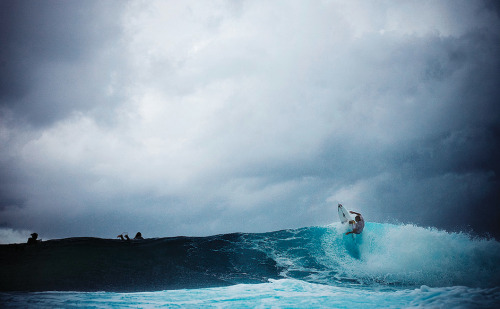 Mick Fanning. I love the way the ocean looks when it starts getting dark