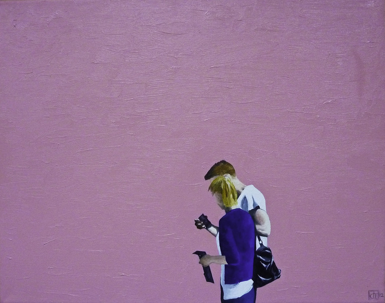 Paul Smith Wall and Couple, LA Oil Paintingby John TierneyUnited KingdomOriginal: $4,450.00