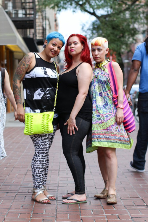 humansofnewyork:  I think that, between the three of them, all of the colors in the crayon box have been covered.