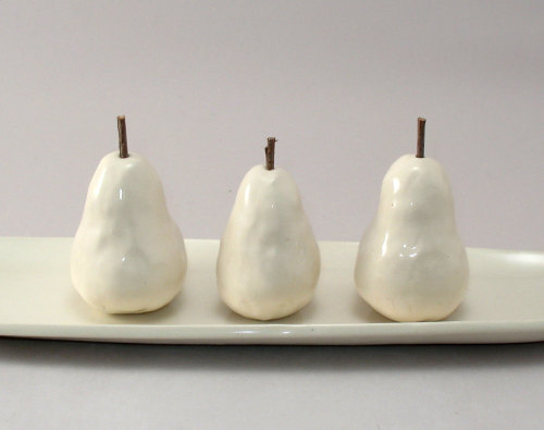 Tiny Pears on a Tray