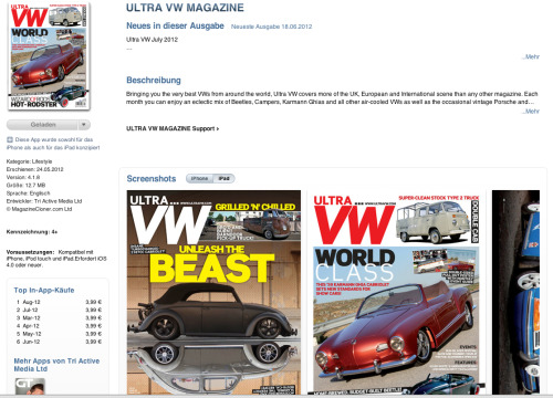 new ultra vw magazin, now online… (iPad version)