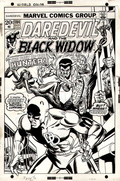 Original Comic Book Art: Daredevil #104 Cover