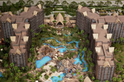 Aulani, a Disney Resort and Spa located in Ko Olina, Hawaii announced that it will be expanding several elements of the park to provide more guest amenities. Areas included in the expansion will be the Waikolohe Valley pool area and the addition of two quick-service dining options. The Starlit Hui show will also be moving to a larger venue to accommodate more guests.  Work on the expansion will begin in September and will occur simultaneously with the final build out of the resort; it is anticipated to be completed mid 2013.