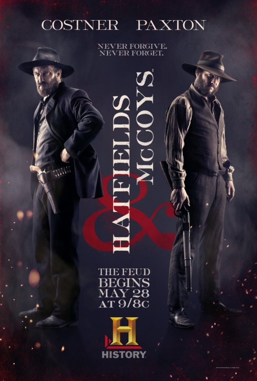 HATFIELDS & McCOYS (or, as I've been referring to it, HATFELDS & COY-WASSERMANS) ***1/2 2012, dir. Kevin Reynolds, Blu-ray