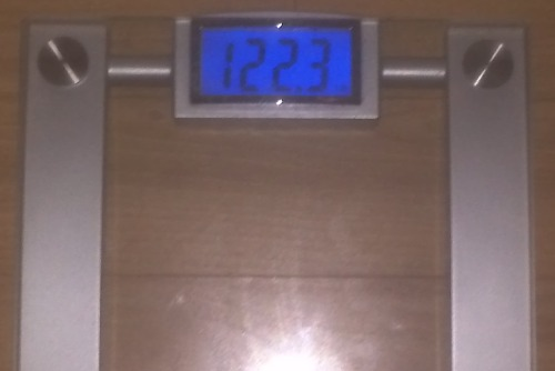 Today's Weight: 122.3 lbs.Total Lost: 15.3 lbs.Not much weight loss in the past couple of days, but I haven't cheated once. I ran, but not as far as I am used to going. I need to run tomorrow morning before I get my hair done (because we all know that we don't want to get sweaty right after your hair is done haha). I need to step it up because I'm still in the lead for my work's competition (11% loss now!), but there are 2 people that are at 8%, so I can't let them catch up to me. I need to keep a wide enough gap in there just to secure the win. I think I'll be good, but I need to step it up. :)