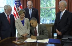 "israelfacts:  Obama signs Israel military aid bill on eve of Romney visit On the eve of Mitt Romney's visit to Israel, President Barack Obama signed into law a military aid bill for that staunch American ally at a much-publicized White House ceremony that highlighted the political advantages of incumbency. ""What this legislation does is bring together all the outstanding cooperation that we have seen, really, at an unprecedented level between our two countries that underscore our unshakable commitment to Israel security,"" Obama said as he signed the measure at his desk in the Oval Office. The president also announced he would speed another $70 million to Israel to advance the so-called ""Iron Dome"" short-range missile defense system, a response to sustained rocket fire from Palestinians in the Gaza Strip. ""This is a program that has been critical in terms of providing security and safety for the Israeli families,"" he said. ""We are standing by our friends in Israel when it comes to these kinds of attacks."" The signing ceremony, a relatively uncommon event in the Obama White House, fit a pattern this week of the administration trumpeting relations with Britain, Israel and Poland—the three countries on Romney's trip overseas to polish his diplomatic credentials. ""I hope that, as I sign as this bill, once again everybody understands how committed all of us are—Republicans and Democrats—as Americans to our friends in making sure that Israel is safe and secure,"" said Obama. Continue reading"