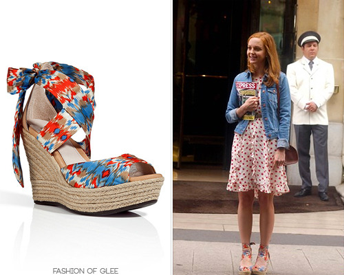 Jayma Mays films The Smurfs 2, Paris, July 10, 2012 UGG Australia Lucianna Wedge - $149.95 Photo source: gleecandids Worn with: Anthropologie dress