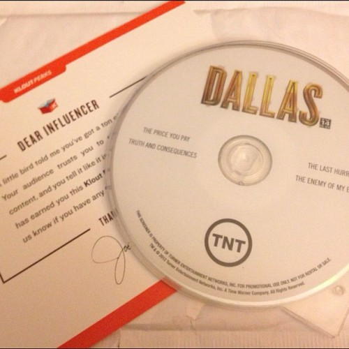 Surprise @Dallas_TNT @Klout Perk: Dallas Screener DVD. Thank you, Dallas_TNT! #Dallastnt #Dallas_TNT #Klout #KloutPerks #DVD #Television (Taken with Instagram)