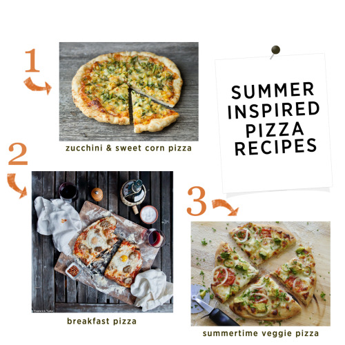 Summer Inspired Pizza Pizza! In addition to all the pizzas I made in the video, I thought these were fun ideas to make right now while we get to enjoy summer's bounty. Use the Marina for this Zucchini & Sweet Corn Pizza. Throw the Black Garlic on the base of this Summertime Veggie Pizza. And the Breakfast Pizza, I guess that's not so summery, but I couldn't resist! It looks amazing doesn't it? Substitute the sausage for the Vermont Pepperoni.