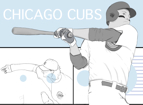 The top part of a Cubs piece I've started.. Future Cubs ©nathan dallesasse