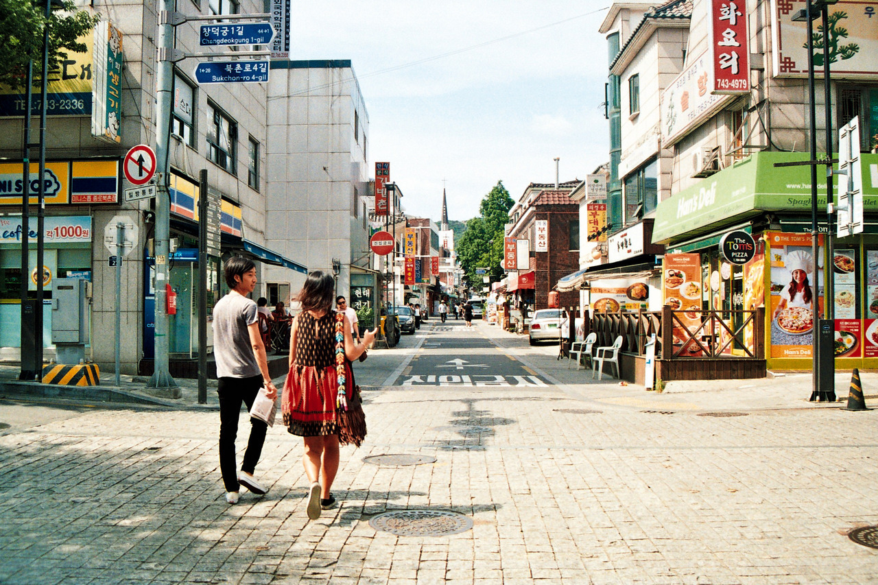 Walkin' around the Bukchon Village area.