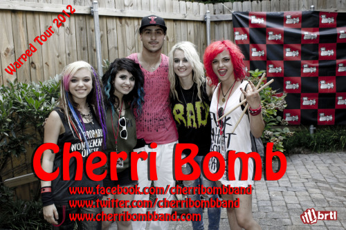 Hanging out with Cherri Bomb after our interview with them at Warped Tour in Atlanta, Georgia! Interview video coming up soon!