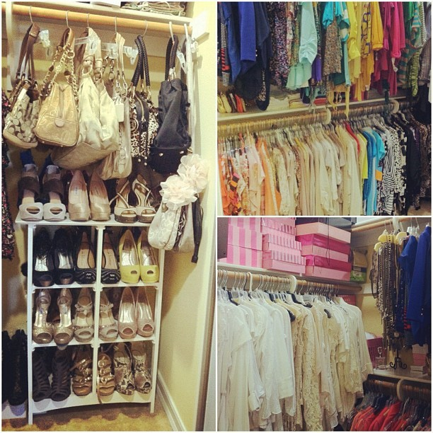 My moms #super #perfect #amazing #pretty #closet!!! 😍 #clothes #shoes #bags #love  (Taken with Instagram)