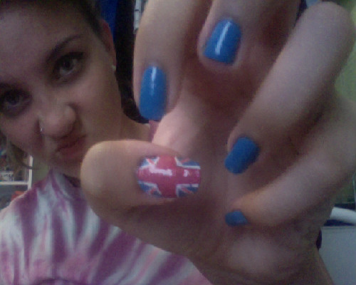 widdle bitty union jack on my thumb :3