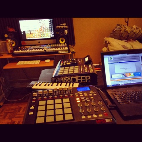Beat sesh all day! @maxwellnichols #beats #crates #pads #swing (Taken with Instagram)
