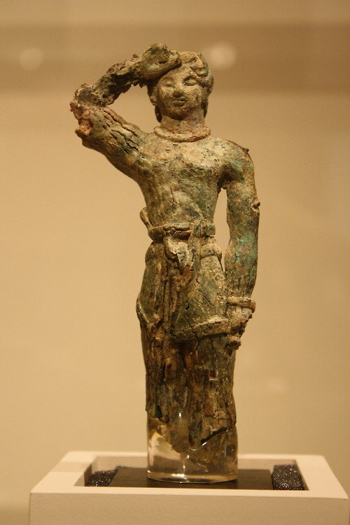 Warrior votive  A Late Minoan Bronze Standing Male Figure, ca. 1600-1450 BC.