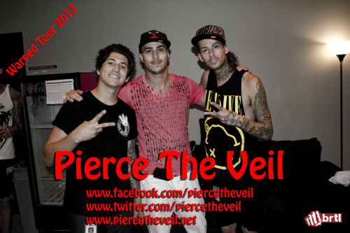 Photo of our interviewer and 2 members from Pierce the Veil. Jaime Preciado (Left) and Mike Fuentes (right). Interview video up soon!