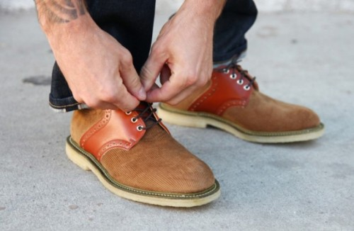 Union x Mark McNairy Corduroy Saddle Shoes http://fnmag.co/2012/07/union-x-mark-mcnairy-corduroy-saddle-shoes/