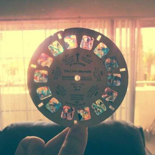 Does anyone remember Viewmasters? Anyhow, here's a reel of The Little Mermaid I kept from when I was a kid. <3