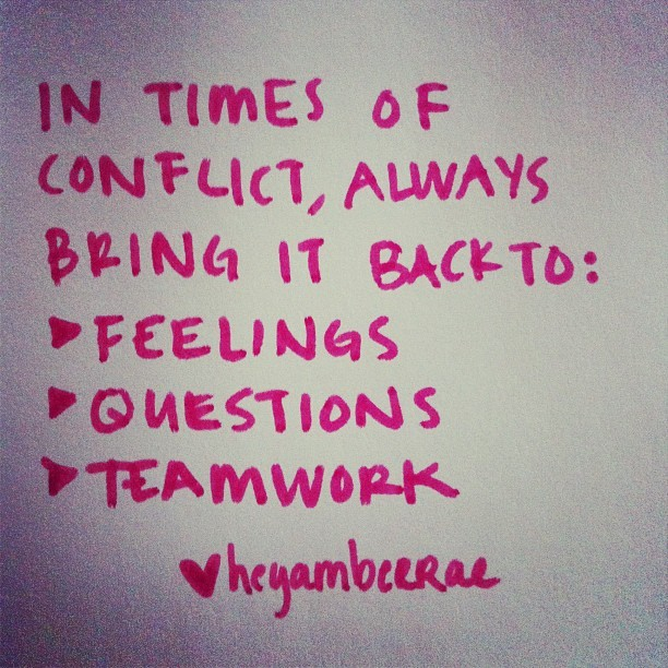 Three things to remember in times of conflict #ambergram  (Taken with Instagram)