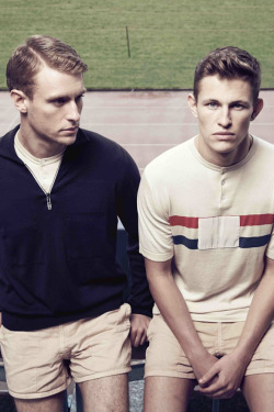In honor of the Olympic festivities. Umbro x John Smedley.