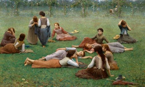 After the Game - Fausto Zonaro 1887