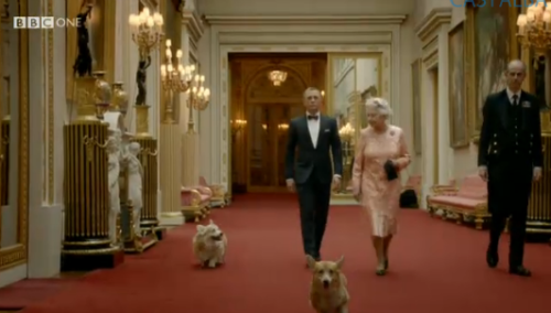 imwithkanye:  James Bond. The Queen. And corgis.
