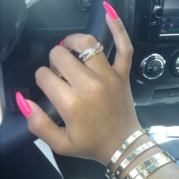 Fresh nails & 110 on the wrist aha!!! LOL #fridayfun