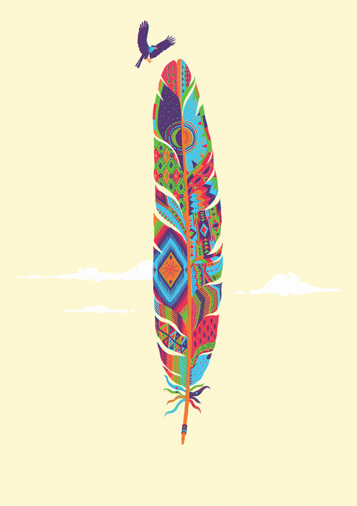 be light as a feather.. Etnic ilustrations..