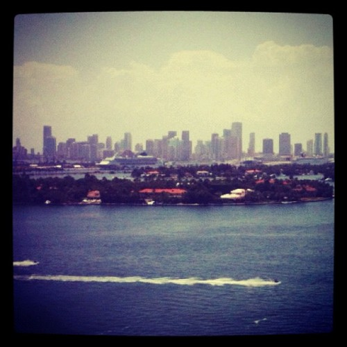 Downtown Miami Skyline (Taken with Instagram at Miami Beach)