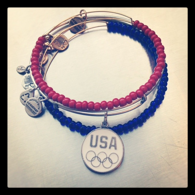 alexandani:  Who's following the Olympics? Get your Team USA Bangle to show your support! http://www.alexandani.com/collections-new/olympics-team-usa.html