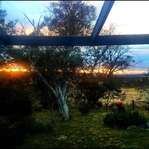 Good morning #thredbo #skitrip #sunrise (Taken with Instagram)
