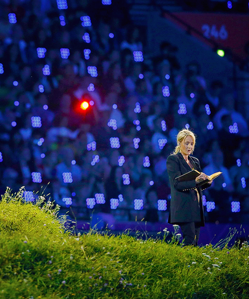ohne-dich:  JK Rowling takes part in the opening ceremony of the London 2012 Olympic Games at the Olympic Stadium July 27 2012