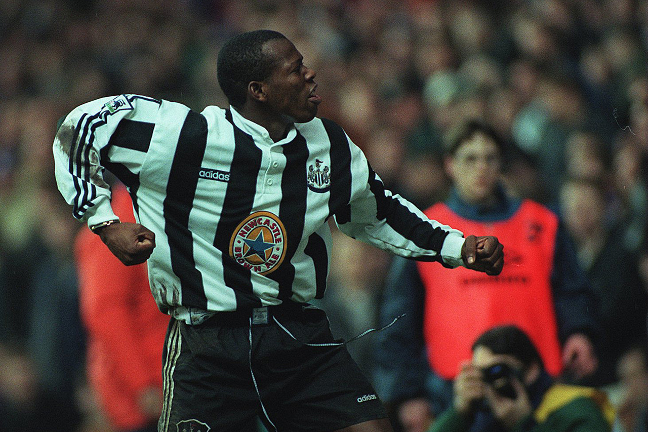 The Tino Faustino Asprilla Newcastle United, 1996/1998. 48 partidos/9 goles