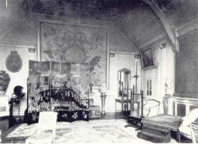 John Singer Sargent's London studio.  From the Thesis of Jennifer Lynn Blount,  John Sargent Singer: The Black Nude Male