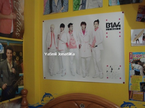 B1A4 ignition poster, this is the first kpop poster that I put in my wall. I wish I had more wall for posters :D