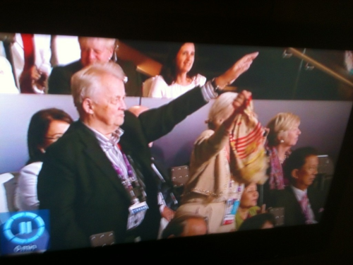 my-life-is-a-story-book:  #London2012 #openingceremony I can't believe about the man german doing the hitler salute dick head you have no right to do that your sick  I'm hoping this is in the wrong context because its all sorts of fucked up.