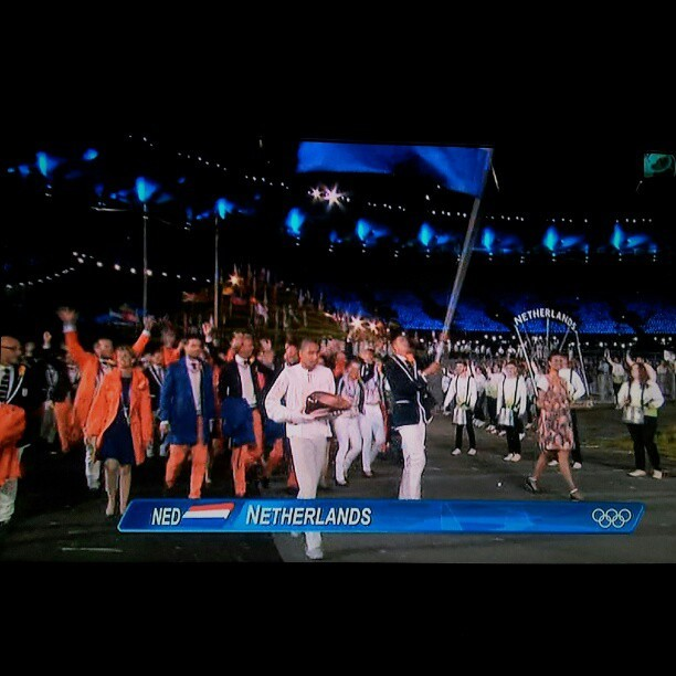 Hup Holland Hup! #nl #Olympics  (Taken with Instagram)