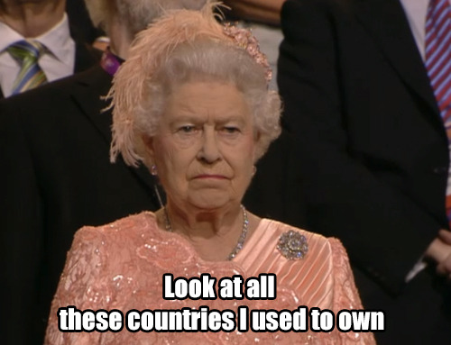 Her majesty, at the Olympics.