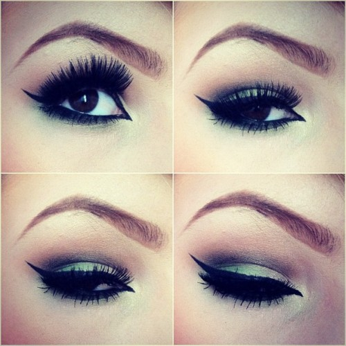 ashleyswagner:  Greeny greenerton! 💚 #makeup #eyeshadow #eyes #green #lashes #browneyes #inglot #inglotcosmetics #instalove #love #tumblr #eyemakeup #ashleyswagner (Taken with Instagram)