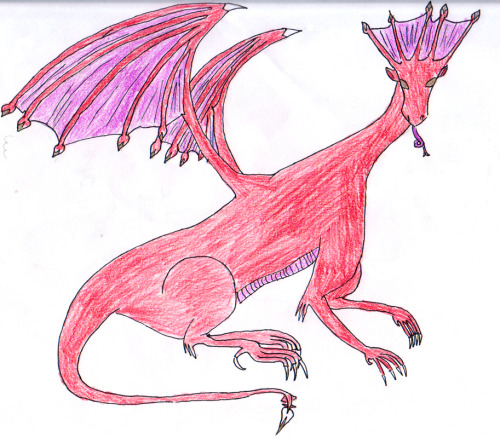 dragoncupcakes:  Realistic dragons are so much fun to draw!!   My daughter has finally arrived! They grow up so fast………….