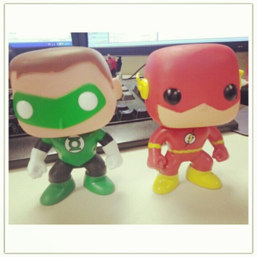 #flash #greenlantern #dc #dcComics #comics #toys  (Taken with Instagram)