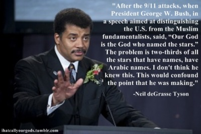 "ihateallyourgods:  Neil deGrasse Tyson- ""I don't think he knew this"""