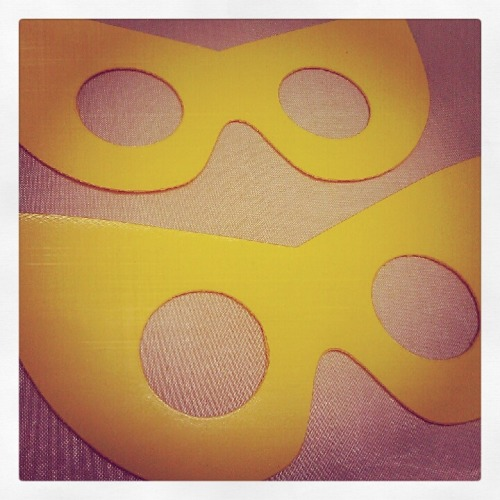 New vinyl masks! Getting ready to hench at GeekGirlCon!