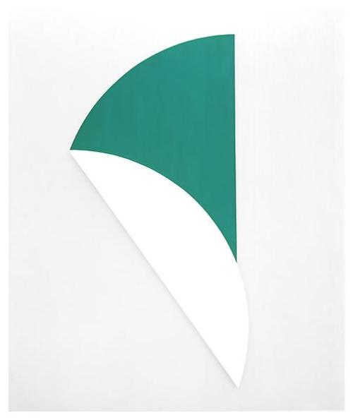 Ellsworth Kelly White Relief with Green, 1994 Oil on canvas 120 x 60 inches; 305 x 152.5 cm